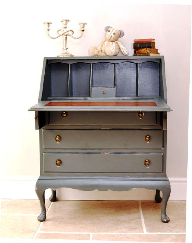 Best Vintage Painted Bureau With Images Furniture 400 x 300