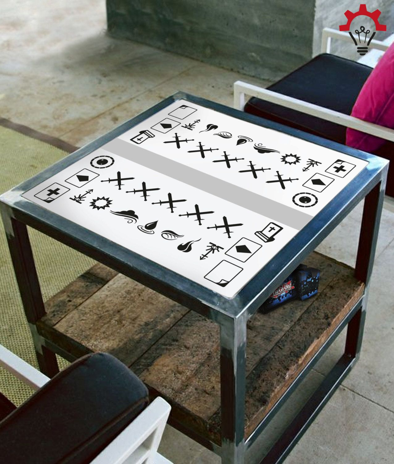 Yugioh create your own game table play mat home decor for Table mats design your own