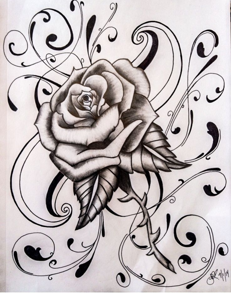 Every Rose Has Its By Jcecalaiv Deviantart Com On Deviantart In 2020 Tattoo Art Drawings Tattoo Coloring Book Rose Drawing