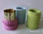 Chaussette boîte de conserve 1/2 haute en tricot design : Accessoires de maison par l-atelier-carre