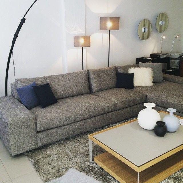 interior interiordesign cinna canap gris d 39 angle cinna france salon homedesign homedecor. Black Bedroom Furniture Sets. Home Design Ideas