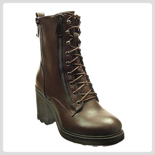 Angkorly damen Schuhe Stiefeletten Hohe Combat Boots