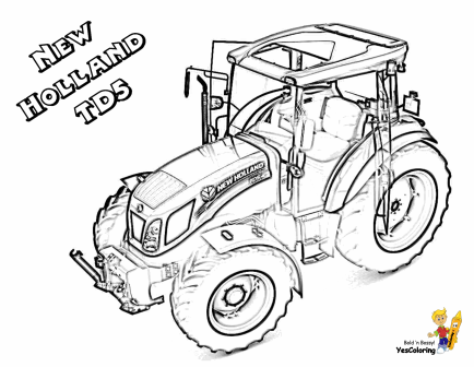 Print Out This New Holland Td5 Tractor Coloring Page Sho Nuff