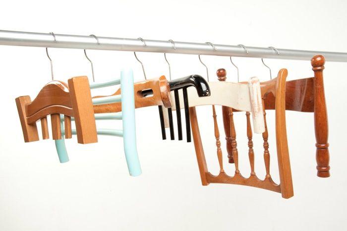 Basteln Mit Kleiderbügel hangers recycled stuhllehnen kleiderbügel und stuhl