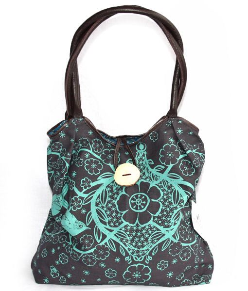 Mongoose Duck bag turquoise and mud blossom print available on www.getthis.co.za