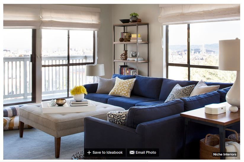 Blue Sofa Sectional With Light Cushioned Coffee Table Blue Sofa