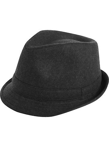 Accessories - London Fog Gray Wool Blend Fedora - Men s Wearhouse ... 2148593b35f