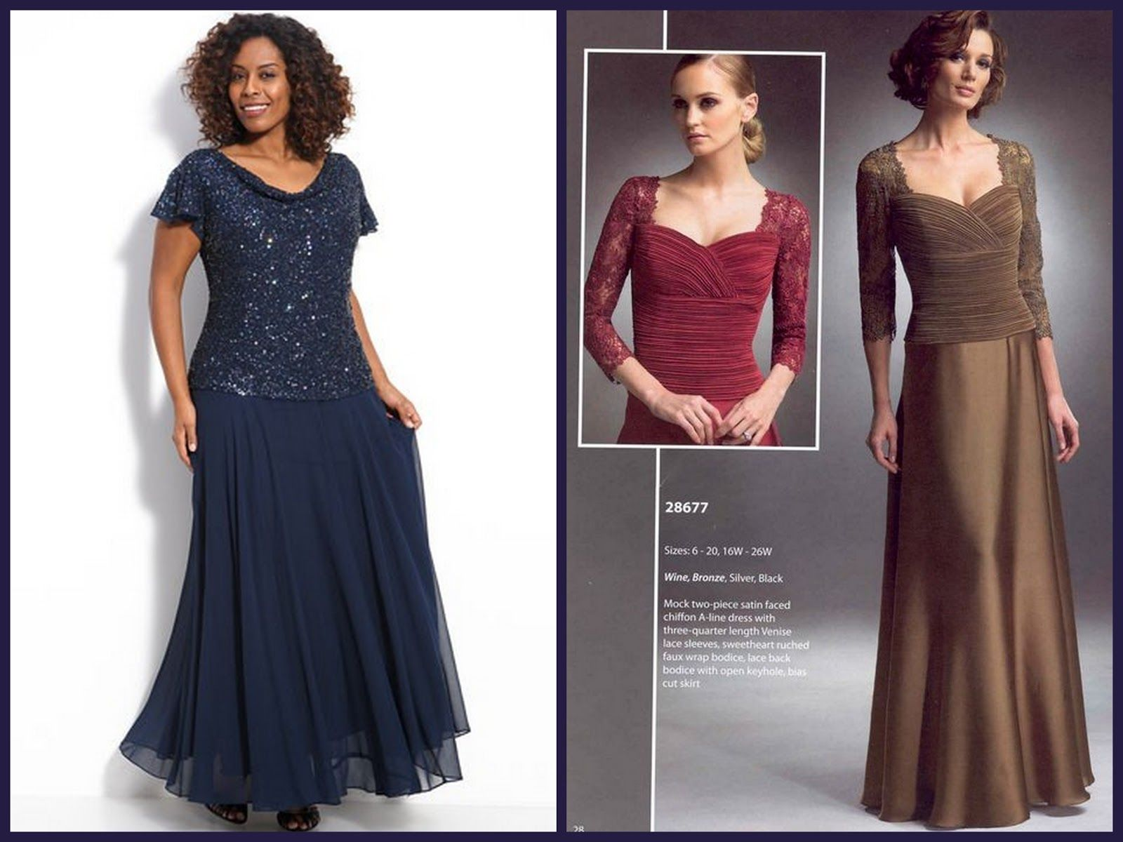 Mother Of The Bride Dresses For Fuller Figure