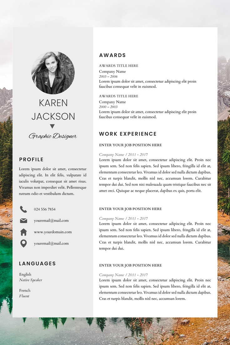 Simple CV Format in Word Creative Resume Builder