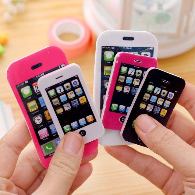 bolsas fiestas Novedad Goma de borrar forma iphone movil 2 colores pack