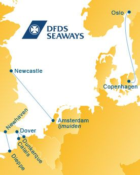 Group Travel On Ferries From England To Holland Norway And Denmark With Dfds Seaways Norway Visit Norway Route Map