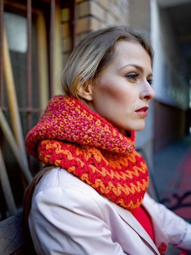 Schals häkeln: Warme Kapuzenschals für den Winter   Crochet, Shawl ...