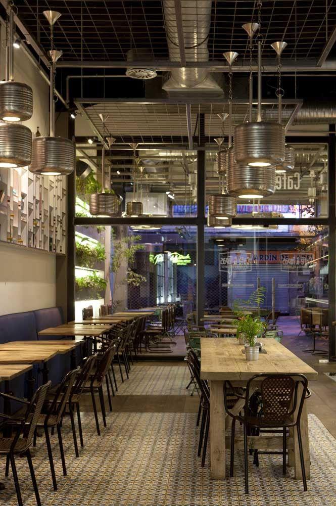 Imágenes del Diseño interior en la cafetería cafe&tapas Madrid ...