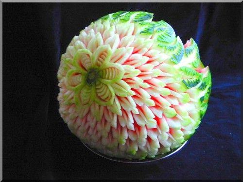 Thai fruit vegetable carving cocina pinterest