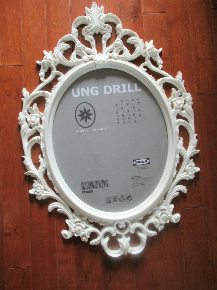 Ikea Ung Drill Large White Oval Ornate Victorian Style Picture Frame New No Box Fashion Hom Victorian Picture Frames Oval Picture Frames Large Picture Frames