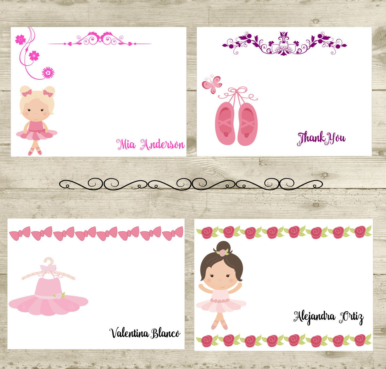 Printable Note Cards Ballerina Note Cards Ballerina Cards Dance Note Cards Dance