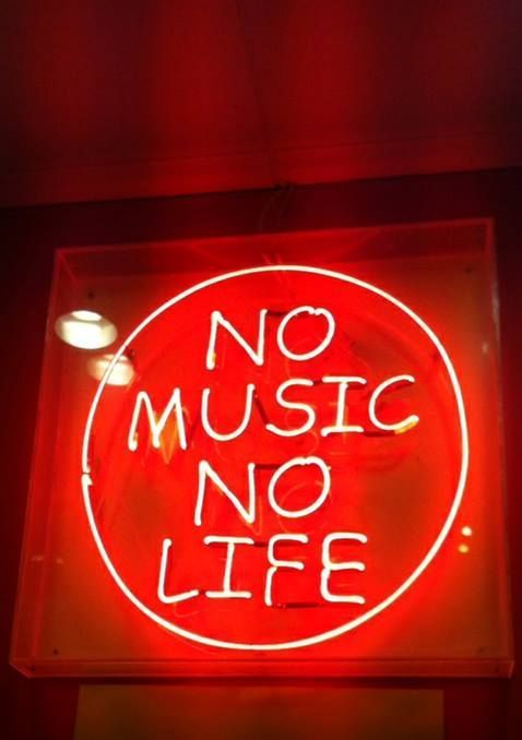 No Music No Life Neon Nights Pinterest Neon Neon Quotes And