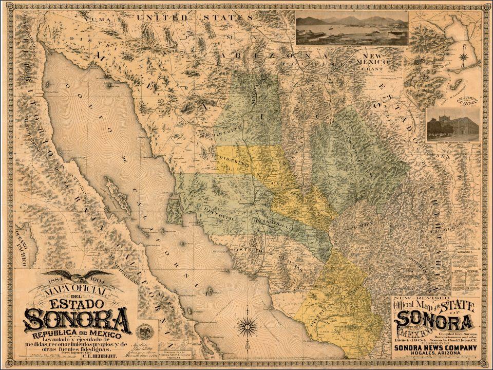 Obregon Mexico Map.Mapas Cd Obregon En Sonora Fierro Por La 200 Wall Maps