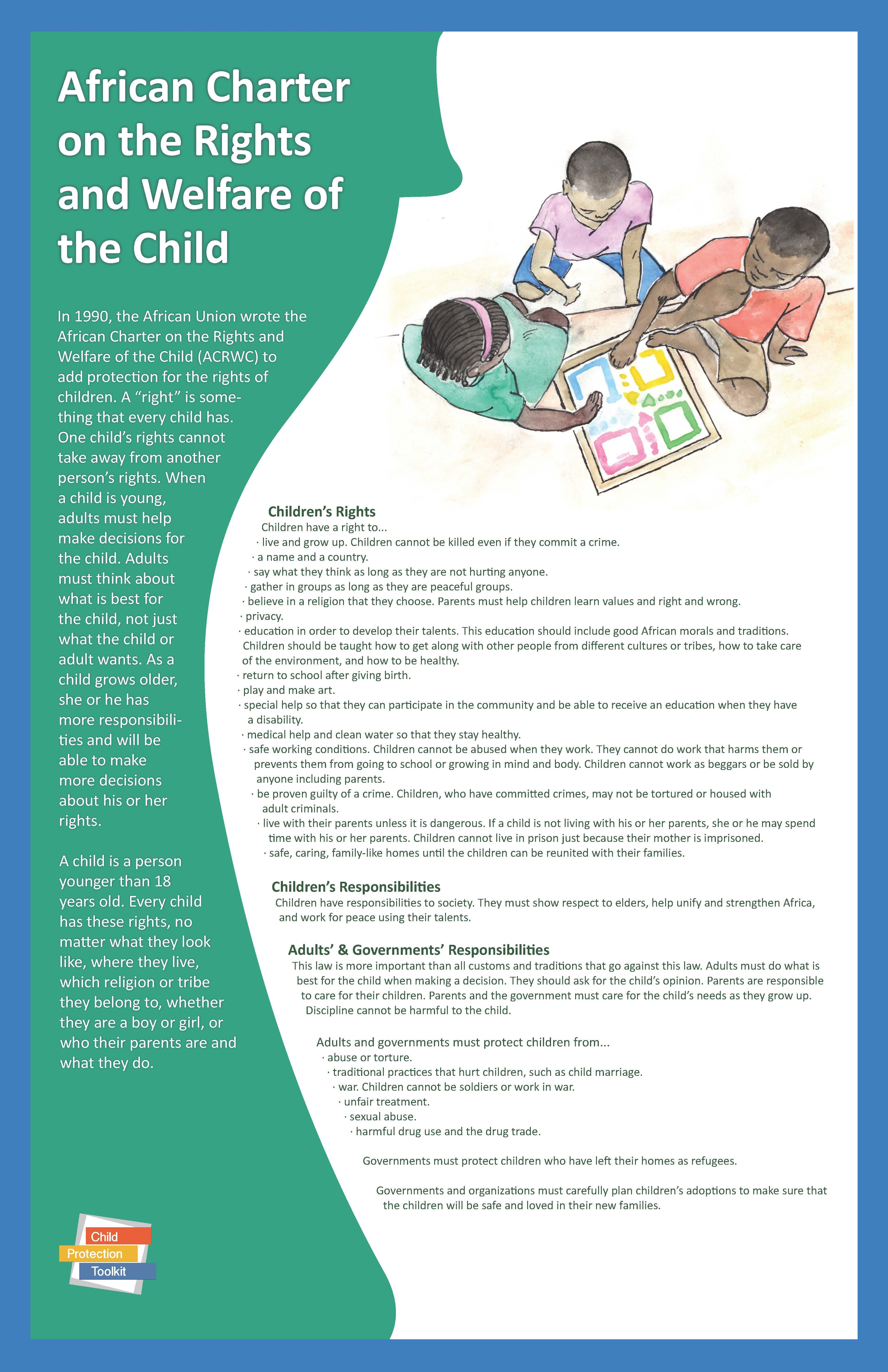 Check It Out African Charter On The Rights And Welfare Of The Child Children Child Protection Child And Child