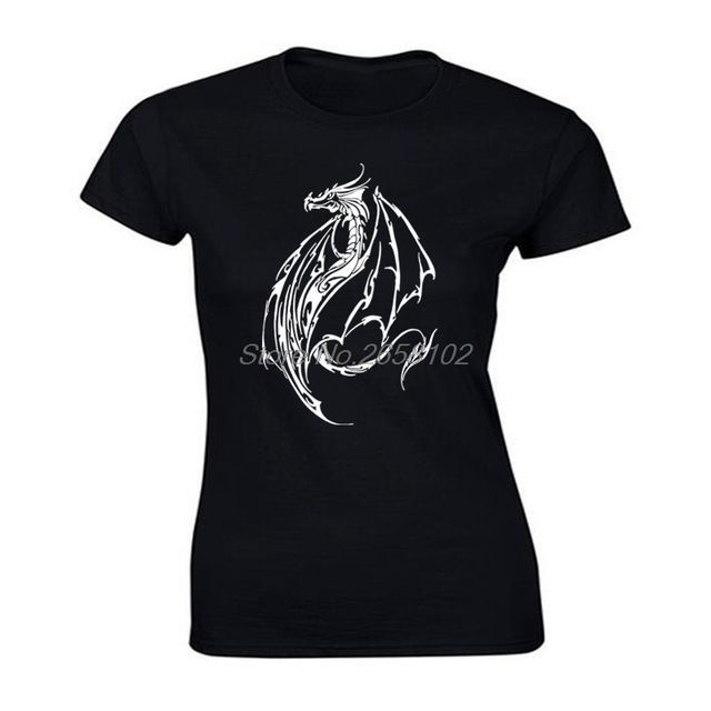 Photo of Tribal Dragon Tattoo Bedrucktes T-Shirt für Damen – Here Be Dragons Shop,  #Bedrucktes #Damen…
