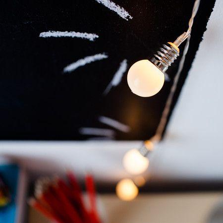 10 LED Retro Bulb Battery Fairy Lights