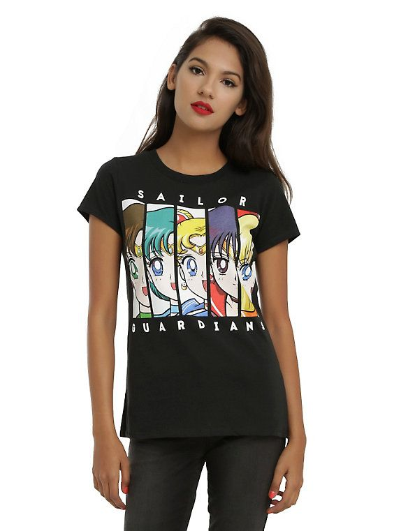 57854af28fe Sailor Moon Sailor Guardians Girls T-Shirt