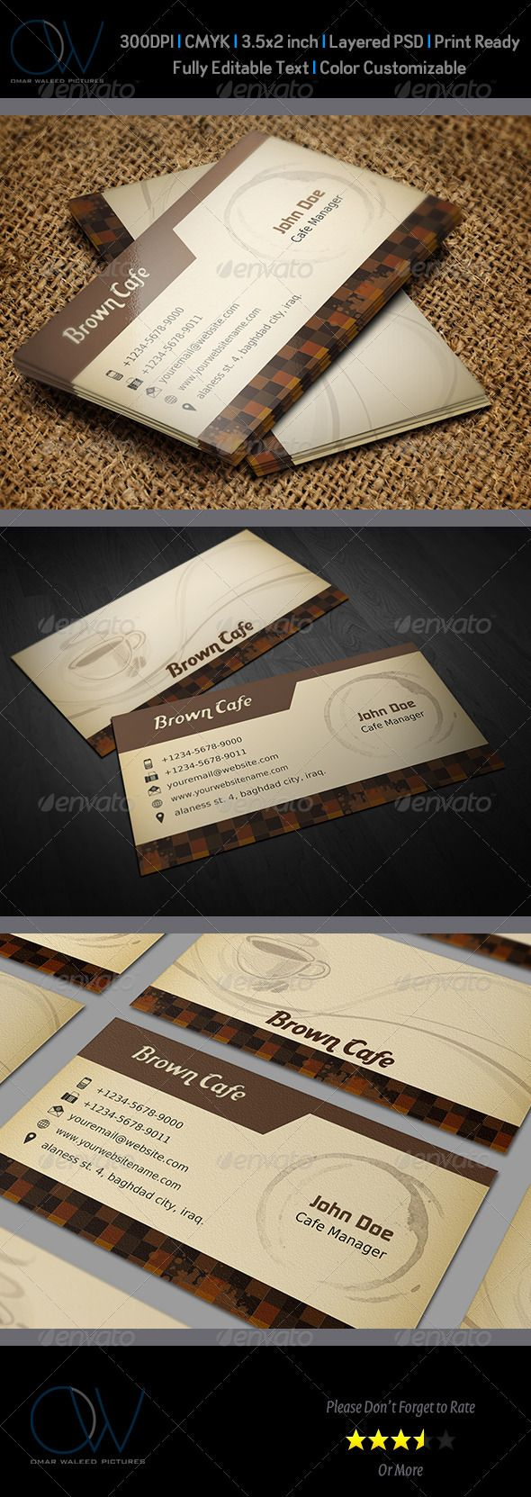 coffee shop business card template | fonts, restaurant and beans
