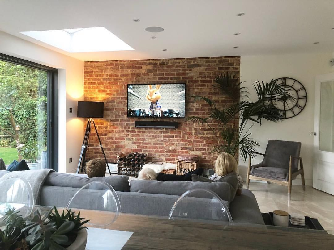 2 755 Likes 64 Comments S A R A H J A N E Justalittlebuild On Instagram It S Almost 6pm And Living Room Renovation Brick Living Room Open Living Room
