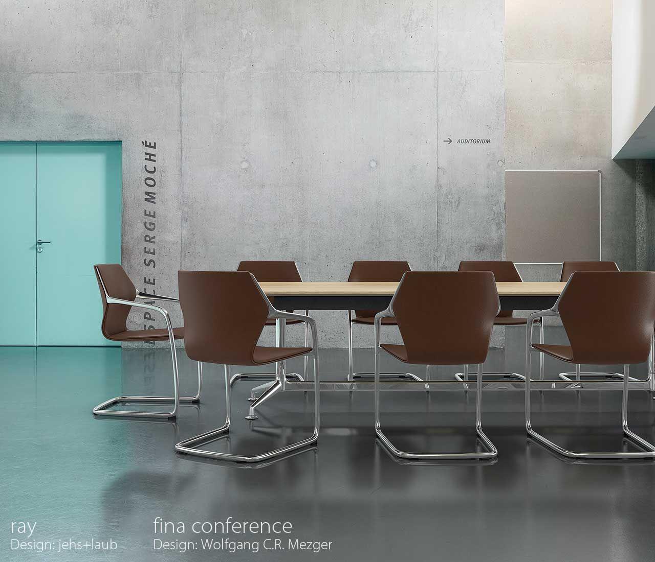 RAY Leather chair by Brunner design Jehs Laub | Eettafel met stoelen ...