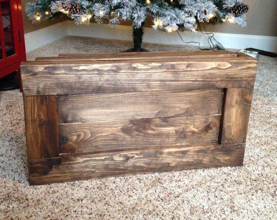 Folding Wood Christmas Tree Box Stand Wood Tree Skirt Etsy In 2020 Christmas Tree Box Christmas Tree Box Stand Wood Christmas Tree