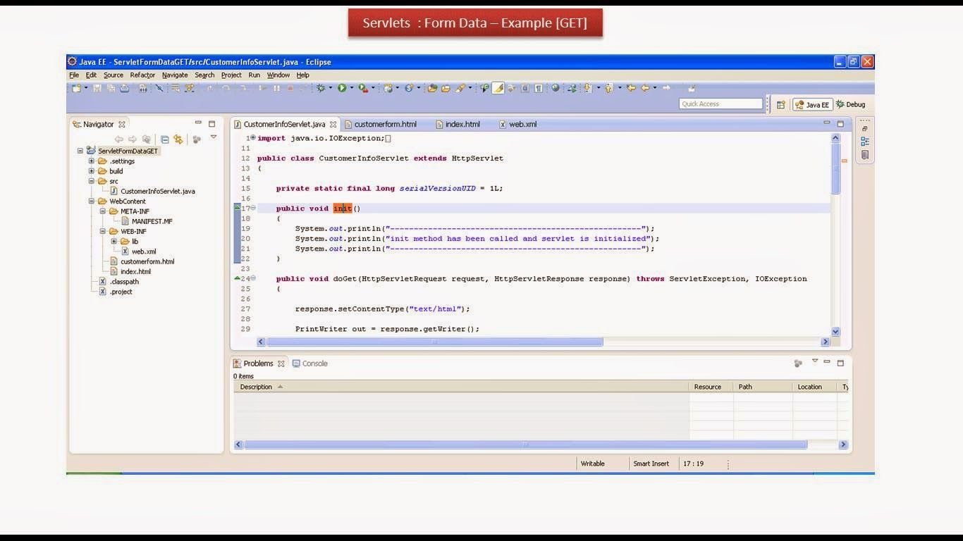 JAVA EE: Servlets : Form Data Example - GET Method | JAVA
