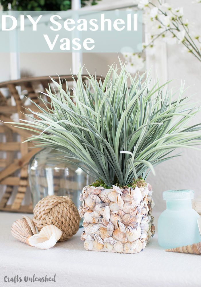 Shell Diy Make Your Own Seashell Vase Consumer Crafts Kathie