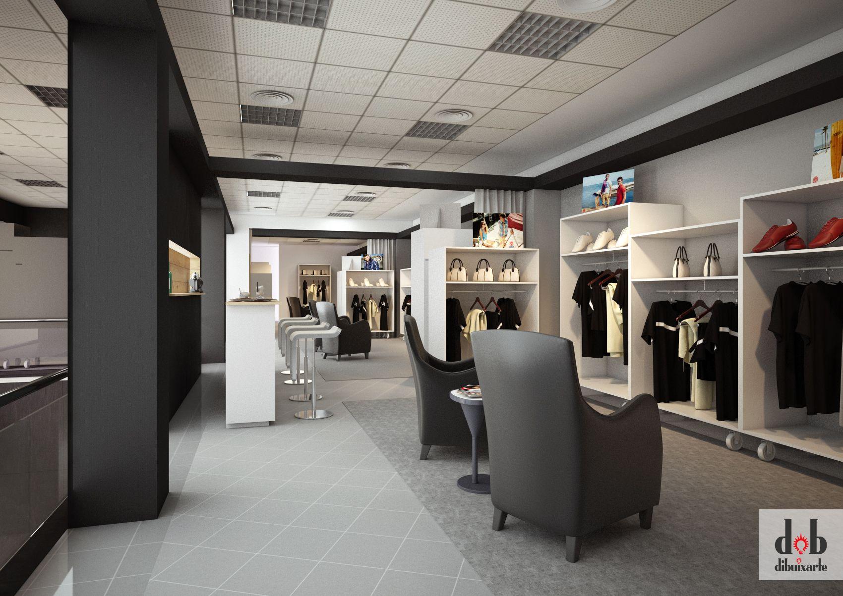 Dise o de showroom para tienda de ropa en alzira trabajo - Diseno de interiores valencia ...