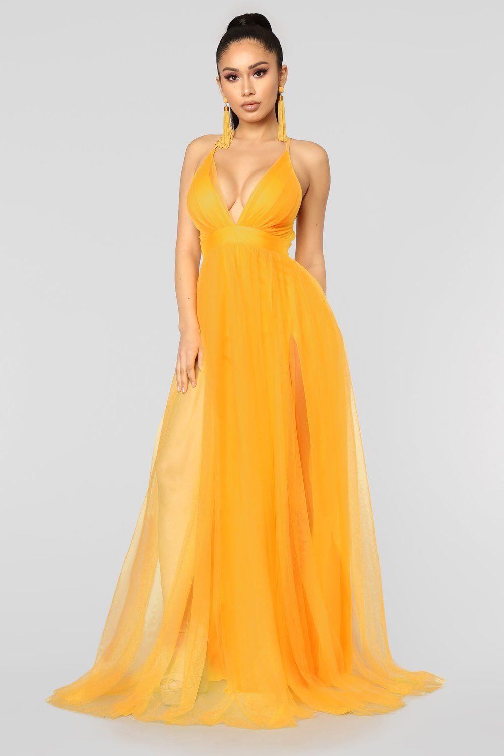 On The Runway Maxi Dress Yellow Maxi dress, Yellow