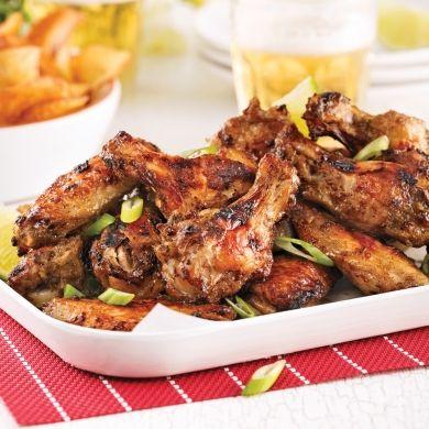 Ailes de poulet jerk recettes cuisine et nutrition pratico pratiques healthy food good - Cuisiner des ailes de poulet ...