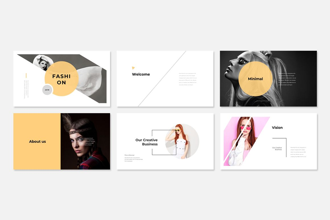 Fashion Presentation PowerPoint Template #78432 | Powerpoint