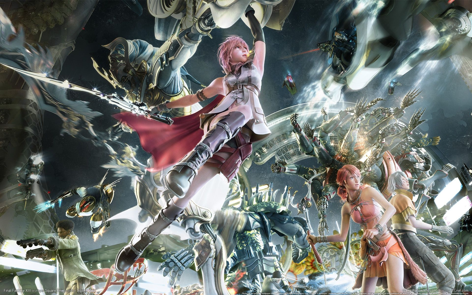Final Fantasy Xiii Sazh Lightning Snow Vanille Hope