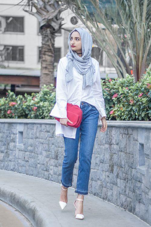 beautiful white hijab outfit 11
