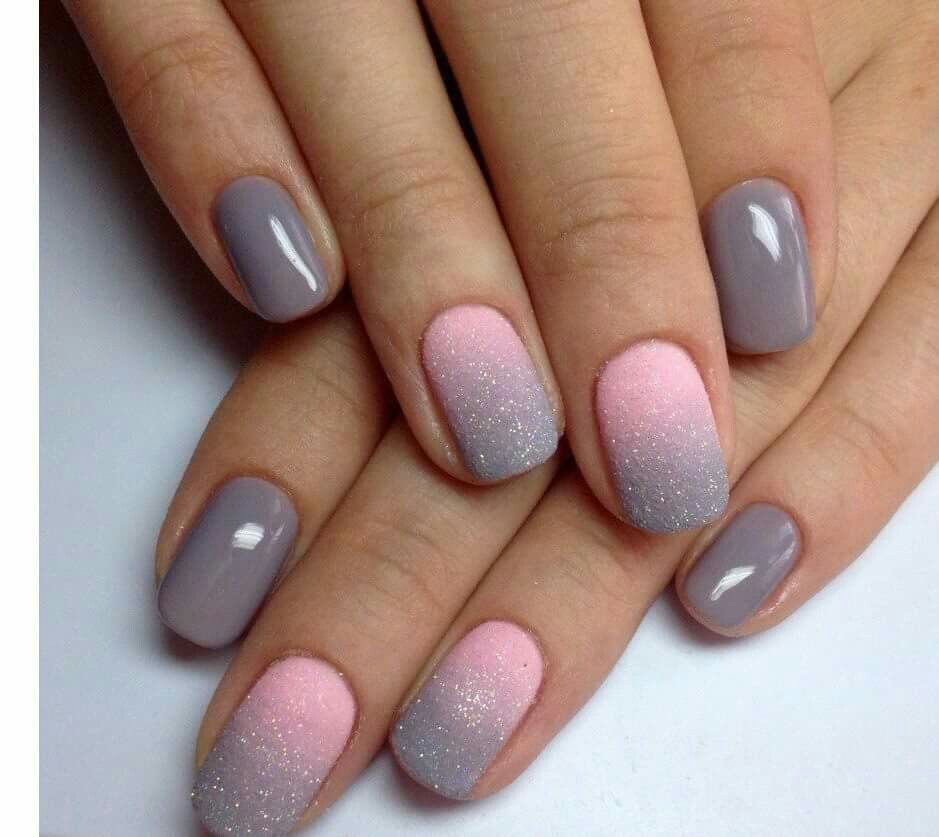 Newest Nail Art Ideas for 2017 - style you 7 - Lovely #pink #grey Nails Pinterest Pink Grey, Nail Polish
