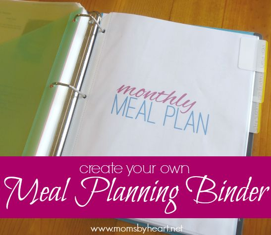 create your own meal planning binder (with a complete set of free printables)