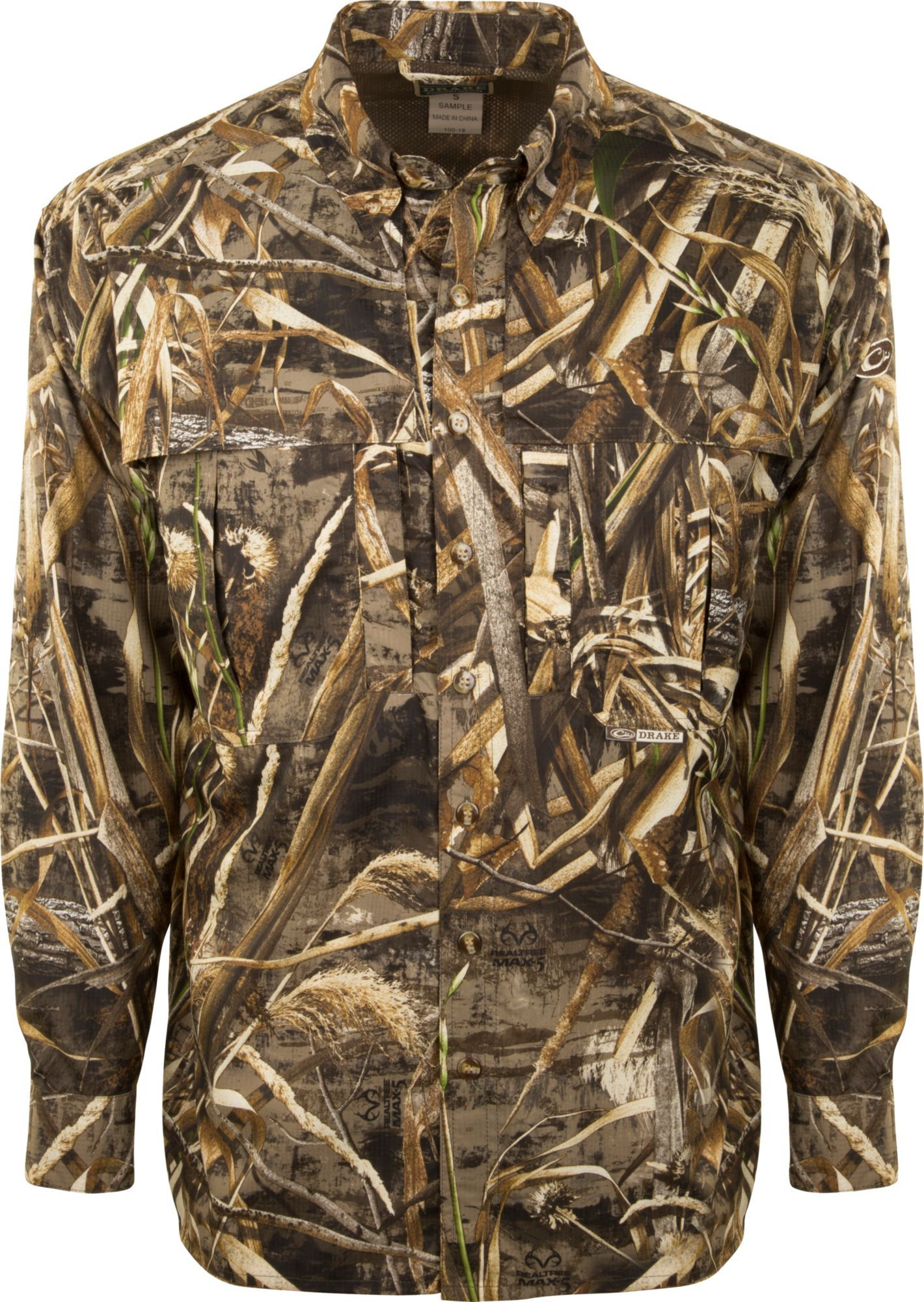 1017d2922770f Drake Waterfowl Men's Camo Flyweight Wingshooter's Hunting Shirt in ...