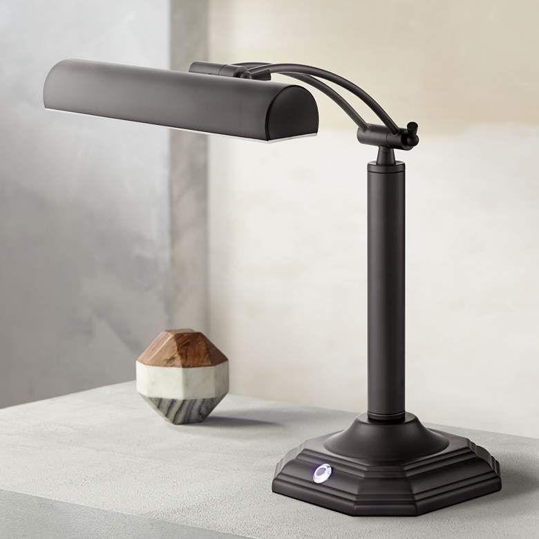 Grady Bankers Black Bronze Led Piano Desk Lamp 7p669 Lamps Plus Led Desk Lamp Desk Lamp Bronze Desk Lamp