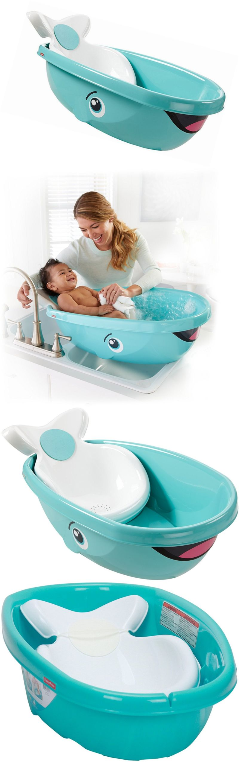 Bath Tubs 113814: Baby Bath Tub Bathtub Whale Safety Anti Slip ...