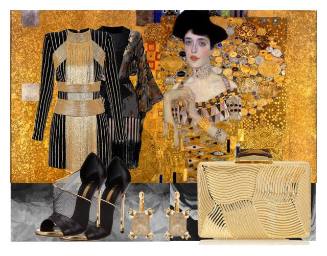 """""""Courting The Muse #3- Homage to Klimt"""" by ombrecat1021 ❤ liked on Polyvore"""