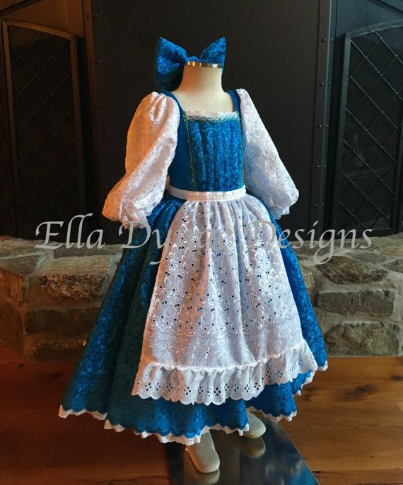 d6dffbabce Belle Provincial Blue Dress - Disney Inspired from Beauty and the ...