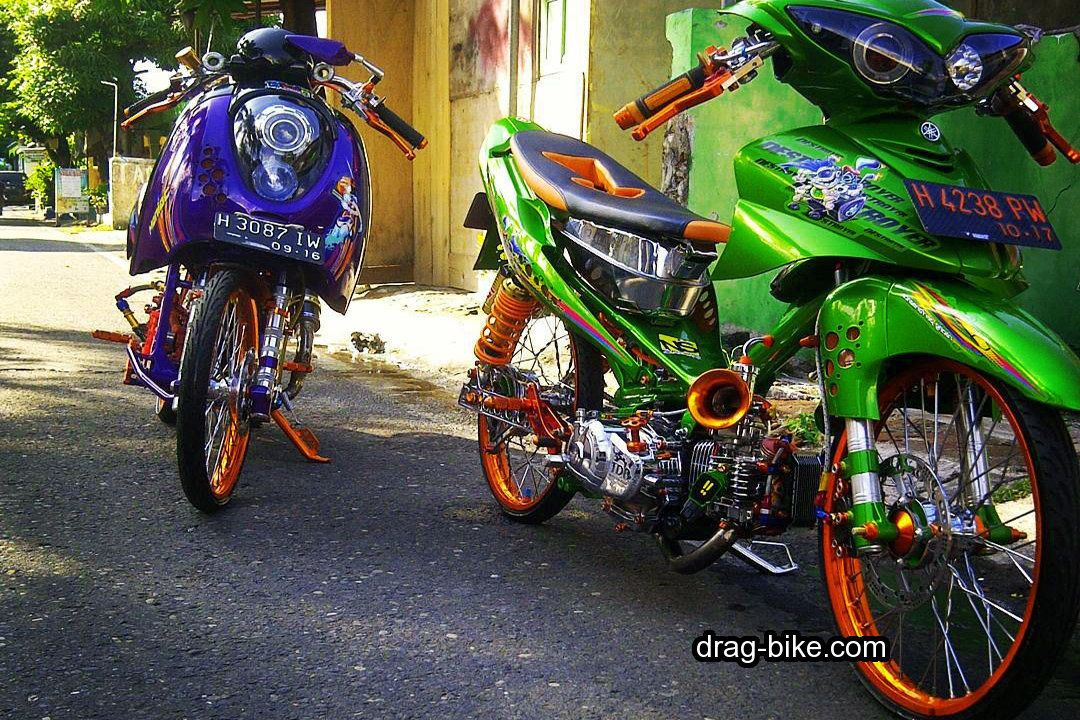 40 Foto Gambar Modifikasi Jupiter Z Kontes Racing Look Jari