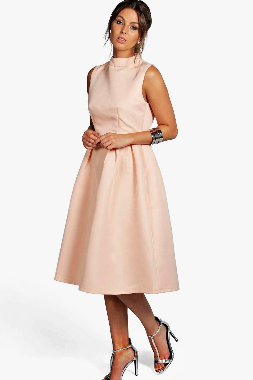 Asos Klasyczna Midi Sukienka Rozkloszowana 38 M Elegant Dresses High Neck Prom Dress Women Dress Online