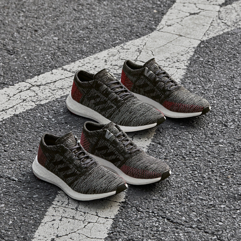 35d231fcc Run second nature in your Men s adidas PureBoost GO edition running shoes.  Your most comfortable