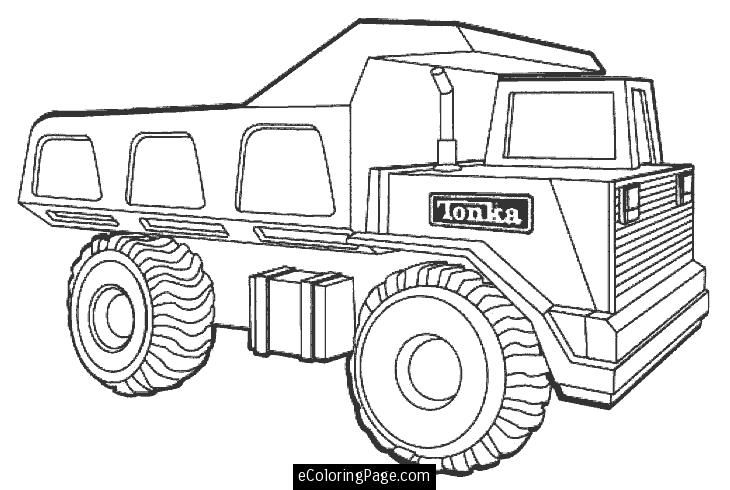 tonka dump truck printable coloring page ecoloringpage - Coloring Pages Of Trucks