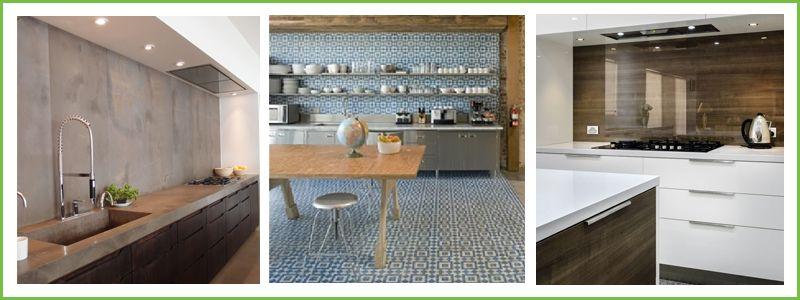 Kitchen Tiles And Splashbacks matched materials kitchen splashback ideas | kitchen splashback